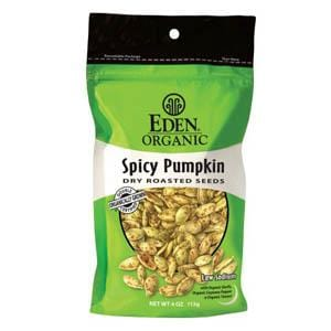 Eden Foods Spicy Pumpkin Seeds Dry Roasted Organic - 15 x 4 ozs.
