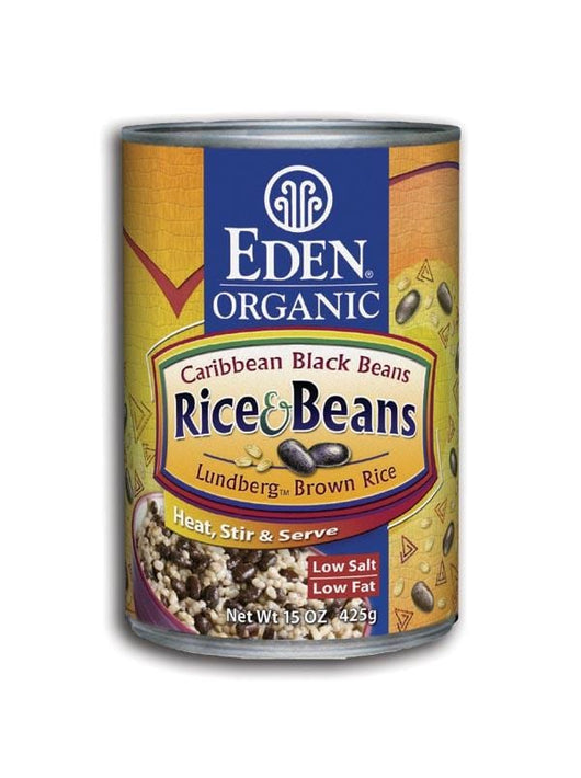 Eden Foods Rice and Caribbean Black Beans Organic - 12 x 15 ozs.