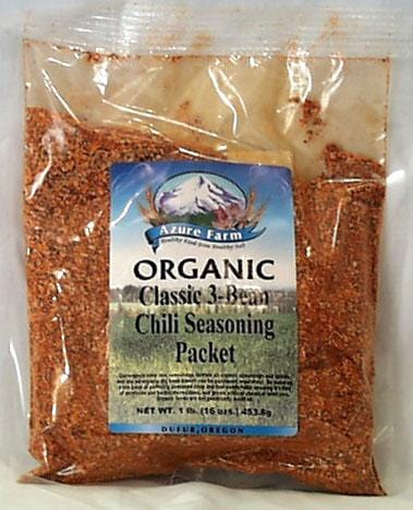 Azure Farm Classic 3-Bean Chili Soup Seasoning Organic - 1 lb.