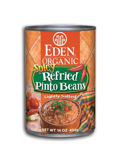 Eden Foods Spicy Refried Pinto Beans Organic - 12 x 16 ozs.