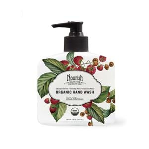 Nourish Hand Wash, Wild Berries, Organic - 12 x 7 ozs.
