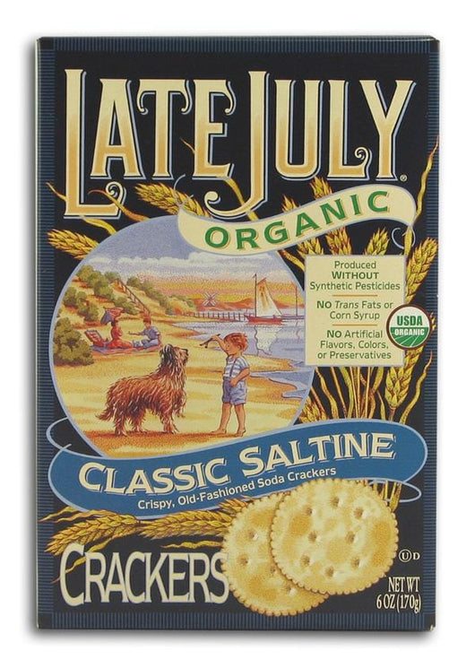 Late July Classic Round Saltine Crackers Organic - 12 x 6 ozs.