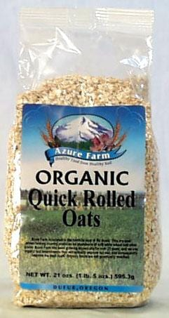 Azure Farm Rolled Oats Quick Organic - 4 x 21 ozs.