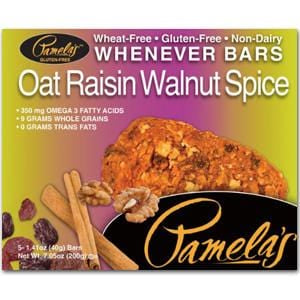 Pamela's Whenever Bars, Oat Raisin Walnut Spice - 7.05 ozs.