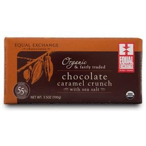 Equal Exchange Chocolate Bar, Caramel Crunch with Sea Salt, Organic - 12 x 3.5 ozs.