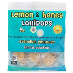 Comvita Children's Lemon & Honey Lollipops - 12 ct.