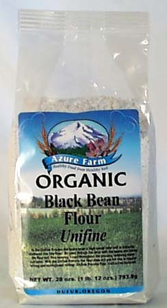 Azure Farm Black Bean Flour (Unifine) Organic - 4 x 28 ozs.