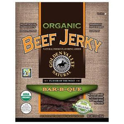 Golden Valley Natural Beef Jerky, Bar-B-Que, Organic - 24 x 3 ozs.