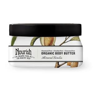 Nourish Body Butter, Almond Vanilla, Organic - 3.6 ozs.