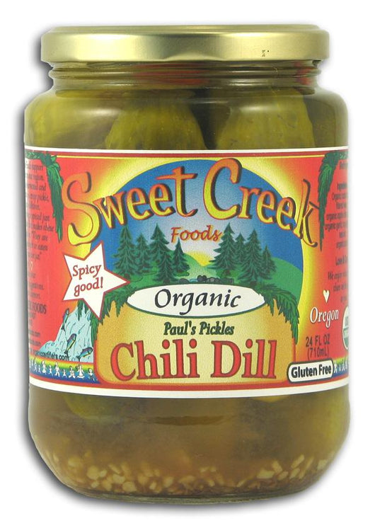 Sweet Creek Foods Paul's Pickles Chili Dills Organic - 12 x 24 ozs.