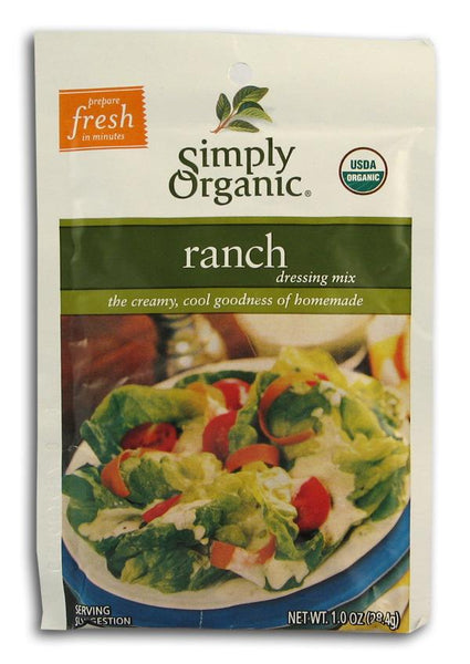 Simply Organic Ranch Dressing Mix Organic - 3 x 1 oz.