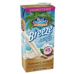 Blue Diamond Almond Coconut Breeze, Unsweetened Original - 12 x 32 ozs.