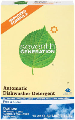 Seventh Generation Automatic Dish Powder Free & Clear - 8 x 75 ozs.