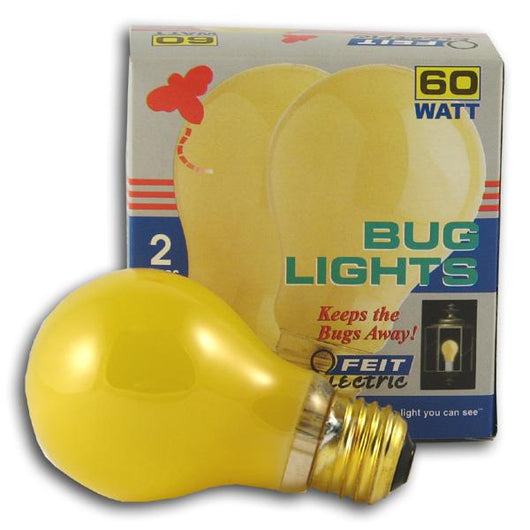 Feit Electric Bug Lights Yellow Bulb 60 watt - 6 x 2 pk.