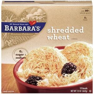 Barbara's Bakery Shredded Wheat Original - 3 x 13 ozs.