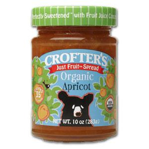 Crofter's Apricot Just Fruit Spread Organic - 12 x 10 ozs.
