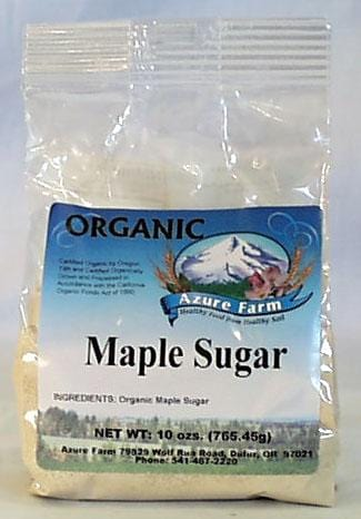 Azure Farm Maple Sugar Organic - 8 x 10 ozs.