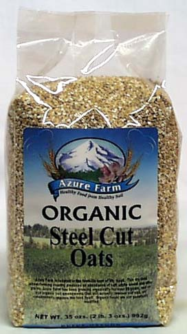Azure Farm Steel Cut Oats (whole grain) Organic - 4 x 35 ozs.