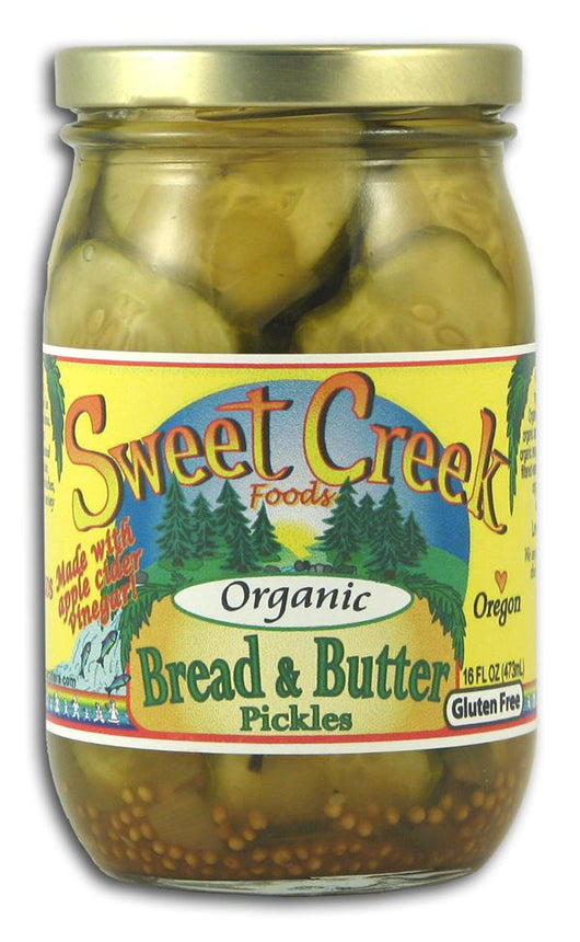 Sweet Creek Foods Bread & Butter Pickles Organic - 16 ozs.