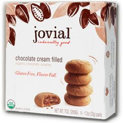 Jovial Foods Cookies, Chocolate, Chocolate Cream Filled, Gluten Free, Organic - 7 ozs.