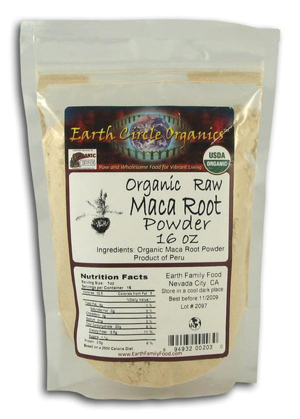 Earth Circle Organics Maca Root Powder Raw Organic - 1 lb.