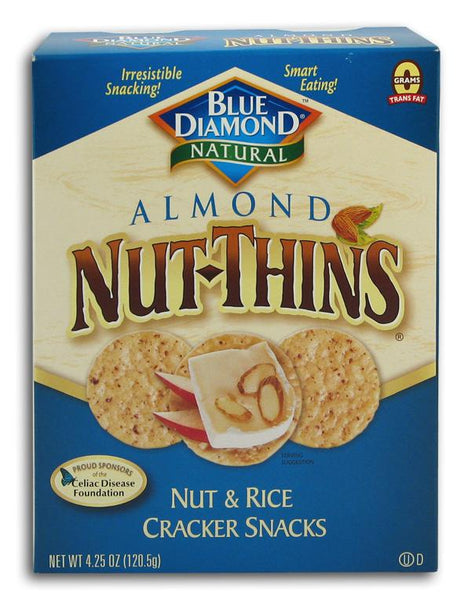 Blue Diamond Almond Nut Thins - 3 x 4.25 ozs.