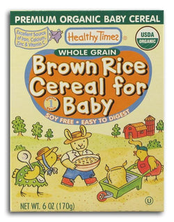 Healthy Times Brown Rice Cereal Organic - 12 x 6 ozs.
