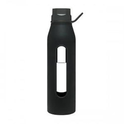 Takeya Glass Water Bottle, Black - 22 ozs.