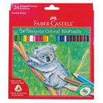 Faber Castell Pencils Triangular Colored EcoPencils 24 count