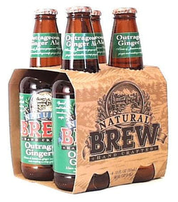 Natural Brew Outrageous Ginger Ale - 4 x 12 ozs.