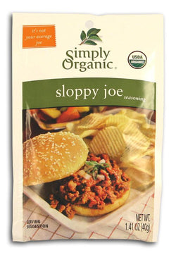 Simply Organic Sloppy Joe Seasoning Organic - 3 x 1.41 ozs.