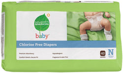 Seventh Generation Baby Diapers Newborn (up to 10 lbs) - 36 ct.