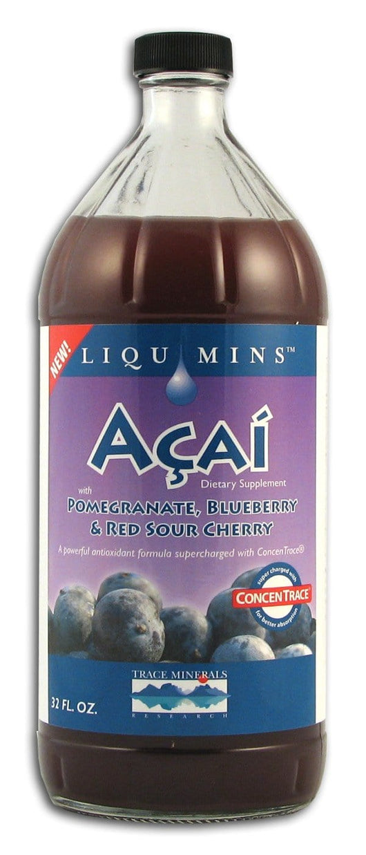 Trace Minerals Acai with Pomegranate Blueberry & Sour Cherry - 32 ozs.