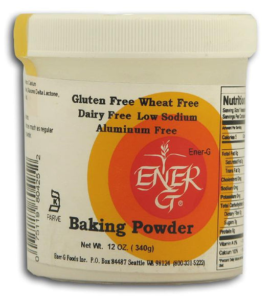 Ener-G Foods Baking Powder - 12 x 7 ozs.