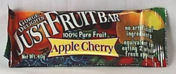 Gorge Delights Just Fruit Bar Apple Cherry - 3 x 1.4 ozs.