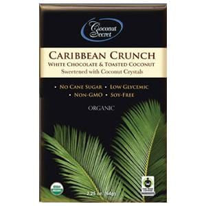 Coconut Secret Chocolate Crunch Bar, Caribbean White, Organic - 2.25 oz