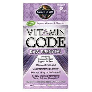 Garden of Life Vitamin Code, Raw Prenatal - 90 caps