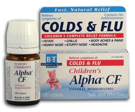 Boericke & Tafel Children's Alpha Cold & Flu - 100 tabs