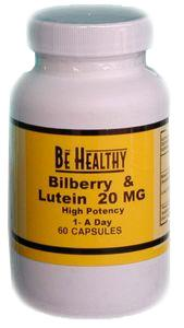 Be Healthy Bilberry/Lutein - 60 caps