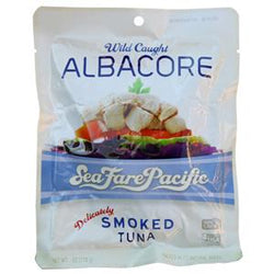 Sea Fare Pacific Albacore Tuna, Smoked - 6 ozs.