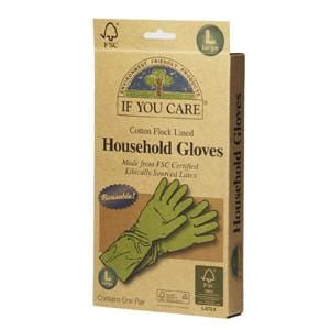 If You Care Household Gloves, Cotton Flock Lined, Large - 12 x 1 pair