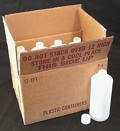 Packaging Supplies Empty Plast. Container Tall Cylinder 16 oz. - 12 x 16 ozs.