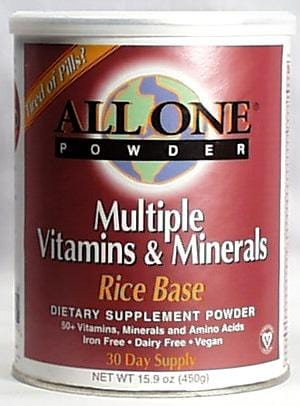 All-One Rice Base Vitamin-Mineral Powder - 15.9 ozs.