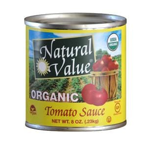 Natural Value Tomato Sauce, Organic - 24 x 8 ozs.