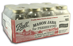 Ball Canning Jars Quart - Case/12