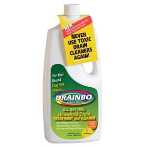 DrainBo Household Drain Care Treatment & Cleaner, Natural - 12 x 32 ozs.