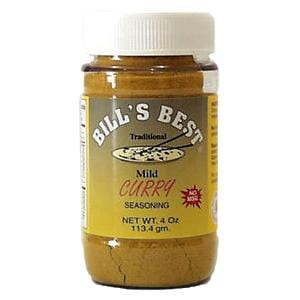 Bill's Best Curry Seasoning - 12 x 4 ozs.