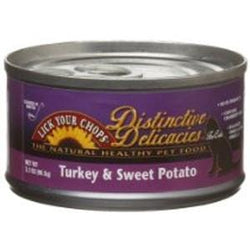 Lick Your Chops Cat Food, Canned, Turkey & Sweet Potato - 24 x 3 ozs.