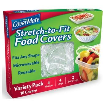 Covermate Stretch2Fit Food Covers Variety Size Pack - 6 x 10 ct.