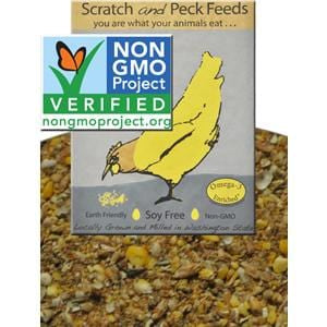 Scratch & Peck Feeds Naturally Free Poultry Starter Feed, Soy and Corn Free - 40 lb